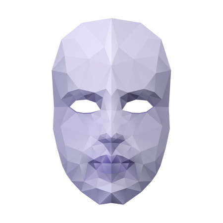 Abstract polygonal face mask on white background Vector