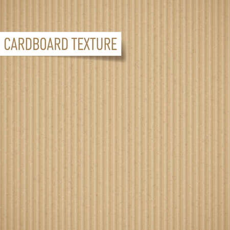 corrugated box: Illustration of realistic carton texture. Seamless cardboard pattern