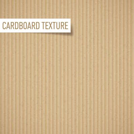 Illustration of realistic carton texture. Seamless cardboard pattern