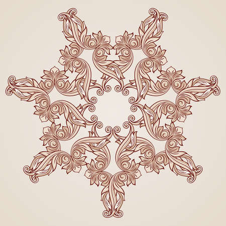 florid: Abstract florid ornament in pastel rose pink tints