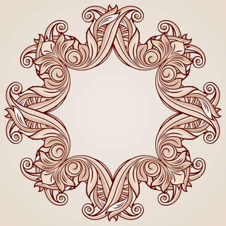 tints: Ornate pattern with floral elements in pastel rose pink tints