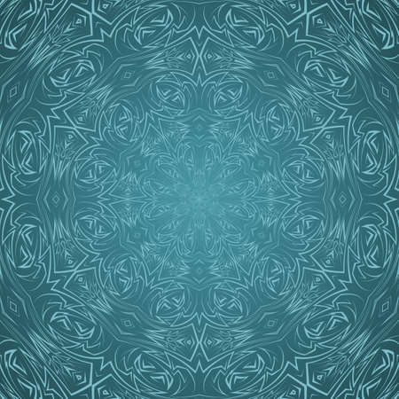 celtic background: Abstract seamless pattern in cyan with sharp line ornament