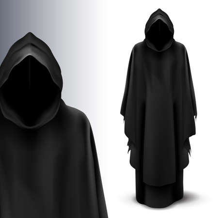 灰色の背景上の死の天使の 2 つの黒の数字。  イラスト・ベクター素材