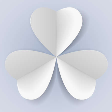 trefoil: Three paper hearts in form of trefoil