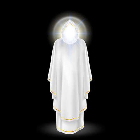 archangel: White angel,  archangel with nimbus under head