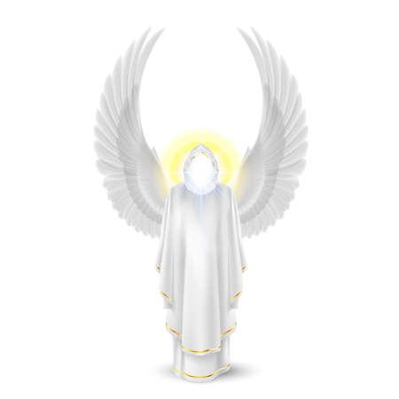 ange gardien: Dieux ange gardien en blanc. L'image Archanges. Concept religieux