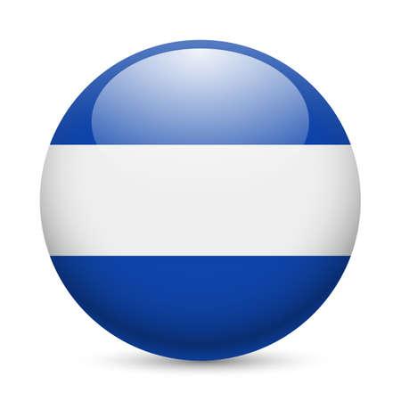 el salvadoran: Flag of El Salvador as round glossy icon. Button with Salvadoran flag Illustration