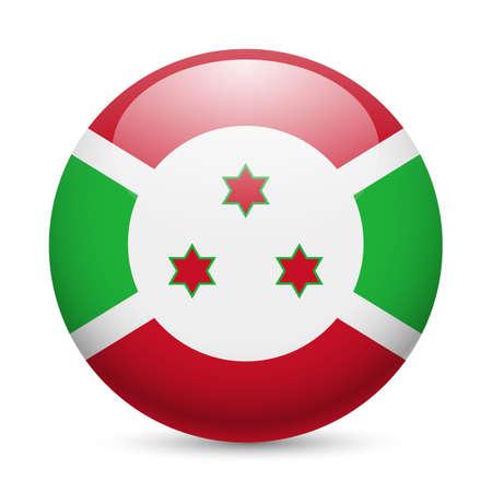 burundi: Flag of Burundi as round glossy icon. Button with Burundian flag