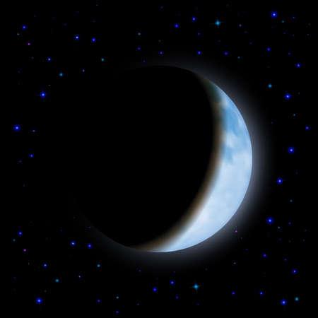 partial: Eclipse parcial de Luna en el espacio de sombra