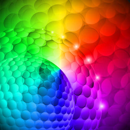 colored lights: Seamless spotted multi-colored spherical abstraction. Disco gradients Illustration