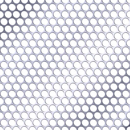 perforation: Seamless wallpaper. Perforation closeup with light metal shade Illustration