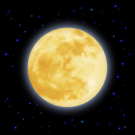earth moving: La luna se mueve suavemente alrededor de la Tierra