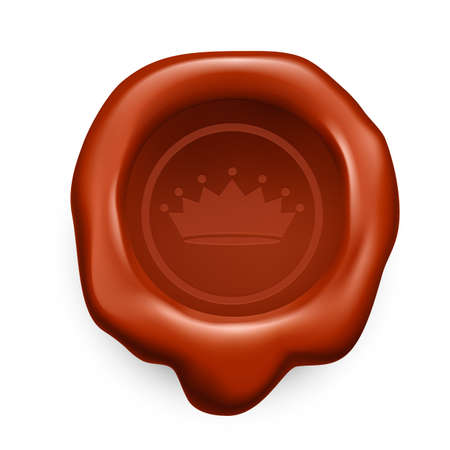 sealing: Brown sealing wax. Crown with seven tips Illustration