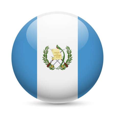 guatemala: Flag of Guatemala as round glossy icon. Button with Guatemalan flag Illustration