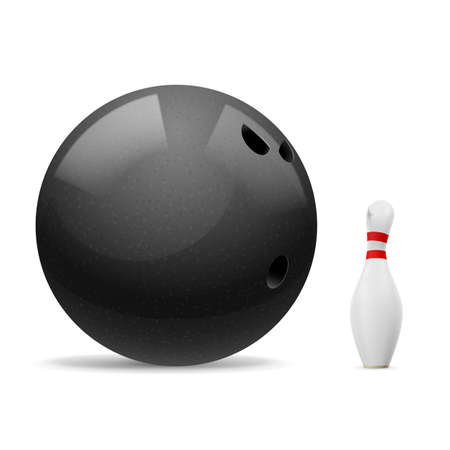 skittles: Big black ball scares a small white skittle. Illustration