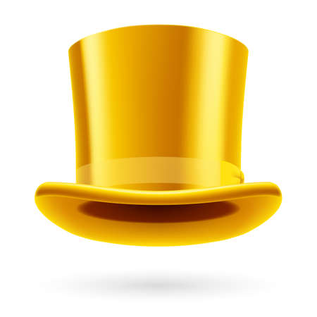 the miracle: Yellow top hat on the white background. Illustration