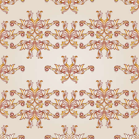 Beige and yellow symmetrical patterns. Light backgrounds. Vector