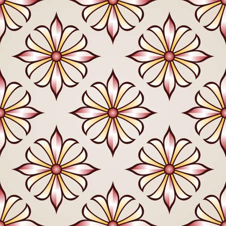 Seamless floral pattern à la rose rose et fleurs marron clair