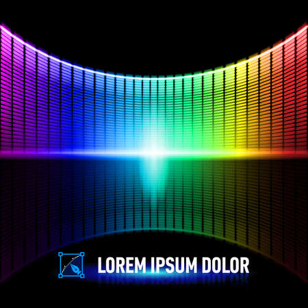Shiny background with colorful digital music equalizer Vector