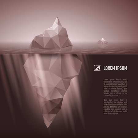 berg: Dark grey iceberg drifting in the sea.
