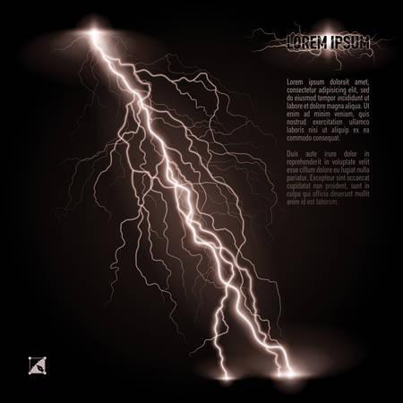 Bianco obliqua linea ramificata fulmine. Illustrazione con spazio per il testo Archivio Fotografico - 29779093