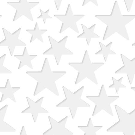 seamless paper: Seamless paper pattern with little gray stars on white background