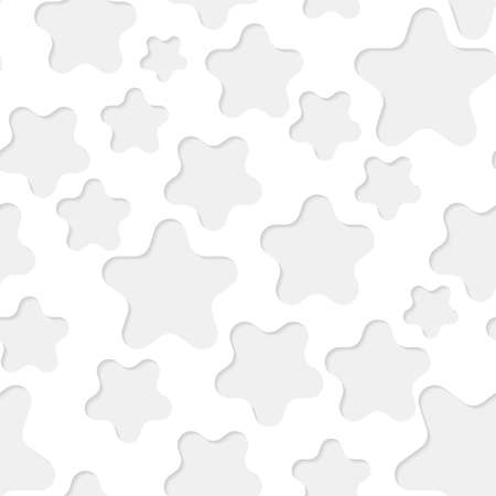 seamless paper: Seamless paper pattern with gray stars on white background