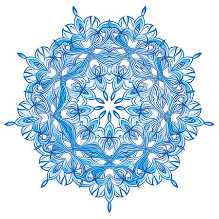 Blue Snowflake design isolated on white background-for  your christmas  decoration Vector