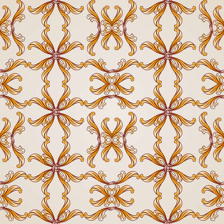 whirling: Seamless vector pattern on beige background, EPS10