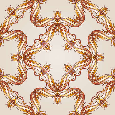yello: Brown and yellow seamless vector pattern for webpage, wallpaper or  ceramic tiles