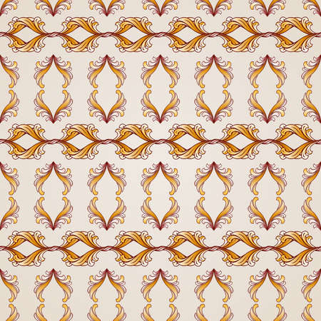 Seamless abstract floral pattern in the form ornate elements Illustration