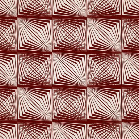 convexity: Abstract pattern of straight lines in brown
