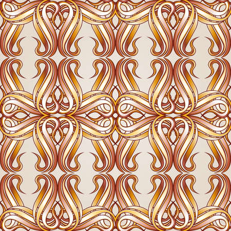 Seamless abstract floral pattern in the form of crossed lines Illustration