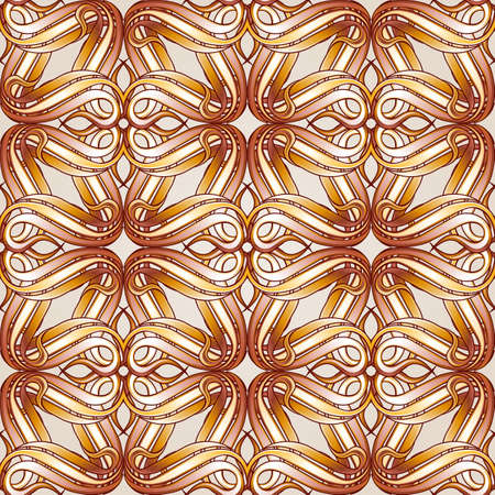 Seamless abstract floral pattern in beige color Illustration