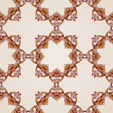 Seamless abstract floral pattern in  form of frameworks Illustration