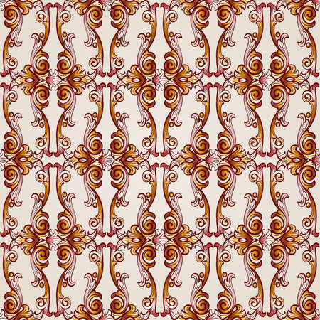Seamless abstract floral pattern in the form of flowery plants