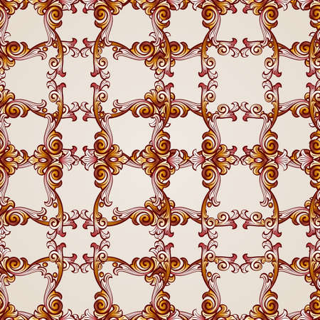 Seamless abstract floral pattern in  form of flowery plants