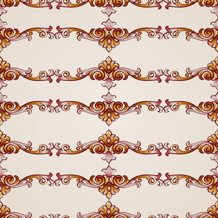Seamless abstract floral pattern in the form  flowery plants