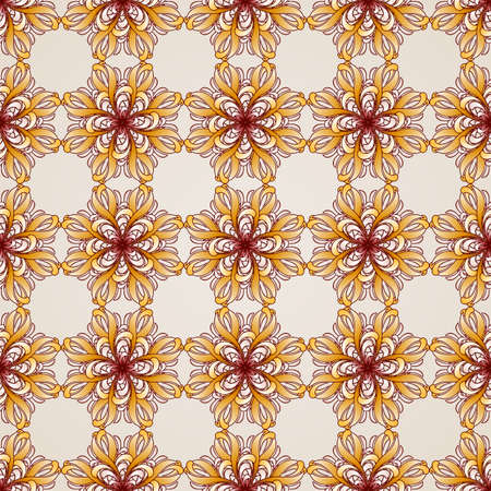 Seamless abstract floral pattern in the form flowers