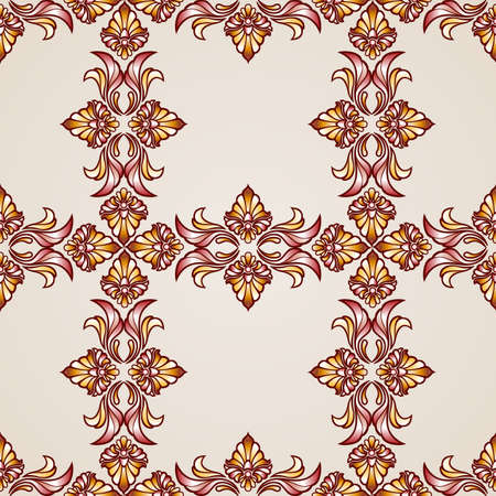 Seamless abstract floral pattern in the form of crosses