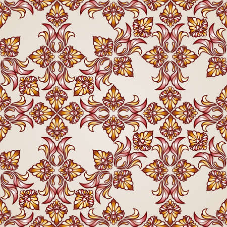 beautifull: Seamless abstract floral pattern in  form of  beautifull plants