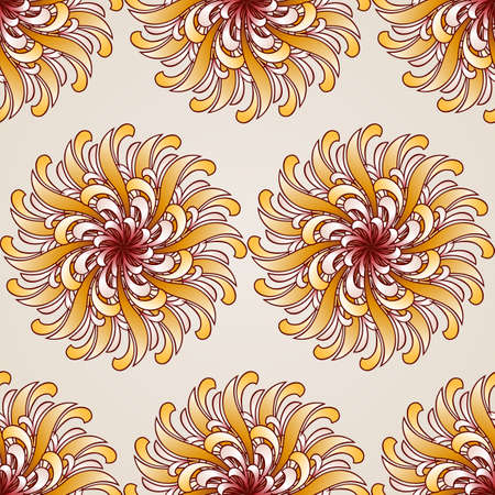 Seamless abstract floral pattern in the form  beauty flowers