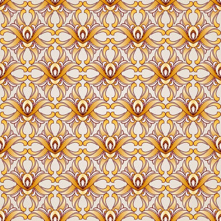 Saturated seamless abstract floral pattern in the form of plants