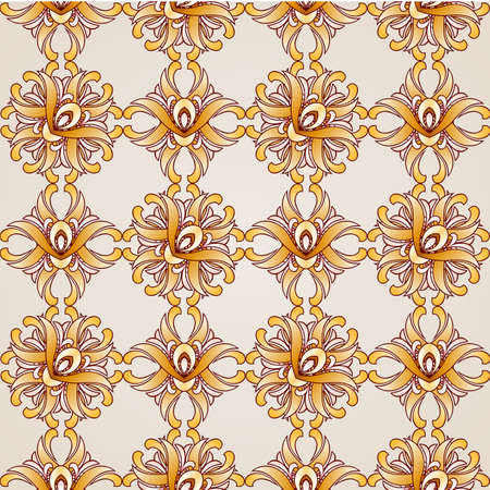 saturated: Saturated golden seamless abstract the floral pattern