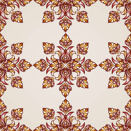 saturated: Ornate saturated seamless abstract the floral pattern