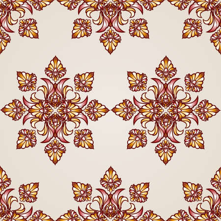Seamless abstract floral pattern in the form of saturated flowers Illustration