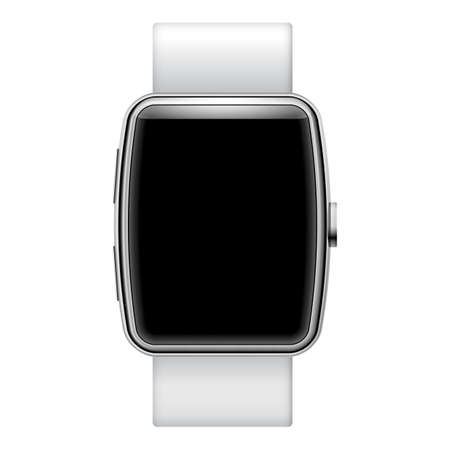 Smartwatch isolated on white background with place for your text Vector