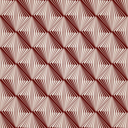 voluminous: Pattern of straight lines in brown colour from squares Illustration