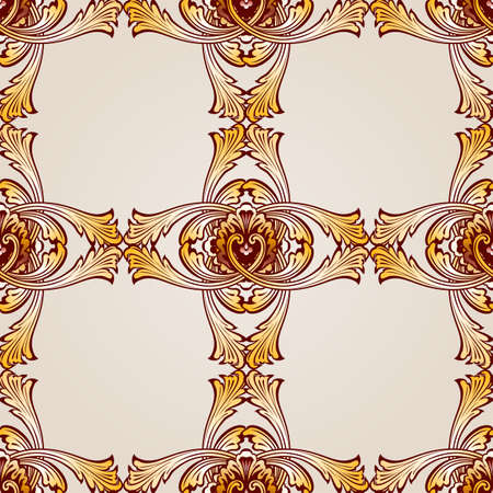 Seamless abstract floral pattern in the form  frameworks from vines Illustration