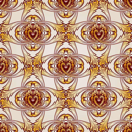 Saturated seamless abstract floral pattern in the form  vines Illustration